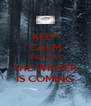 KEEP CALM AND WAIT THE WINTER IS COMING - Personalised Poster A4 size