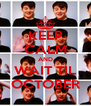 KEEP CALM AND WAIT TIL OCTOBER - Personalised Poster A4 size
