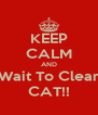 KEEP CALM AND Wait To Clear CAT!! - Personalised Poster A4 size