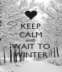 KEEP CALM AND WAIT TO WINTER - Personalised Poster A4 size