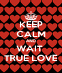 KEEP CALM AND WAIT  TRUE LOVE - Personalised Poster A4 size