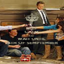 KEEP CALM AND WAIT UNTIL 24TH OF SEMPTEMBER - Personalised Poster A4 size