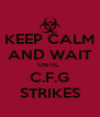 KEEP CALM AND WAIT UNTIL  C.F.G STRIKES - Personalised Poster A4 size