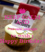 KEEP CALM AND wait until midnight to wish j Happy Birthday! - Personalised Poster A4 size