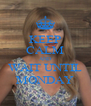 KEEP CALM AND WAIT UNTIL MONDAY - Personalised Poster A4 size
