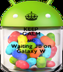 KEEP CALM AND Waiting JB on Galaxy W - Personalised Poster A4 size
