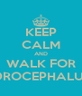 KEEP CALM AND WALK FOR HYDROCEPHALUS :D - Personalised Poster A4 size