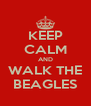 KEEP CALM AND WALK THE BEAGLES - Personalised Poster A4 size