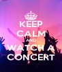 KEEP CALM AND WATCH A CONCERT - Personalised Poster A4 size