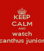 KEEP CALM AND watch acanthus juniors - Personalised Poster A4 size