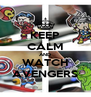 KEEP CALM AND WATCH AVENGERS - Personalised Poster A4 size