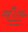 KEEP CALM AND WATCH  BRUNO SURF THE  iTUNES  CHARTS - Personalised Poster A4 size