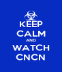 KEEP CALM AND WATCH CNCN - Personalised Poster A4 size
