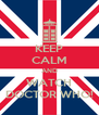 KEEP CALM AND WATCH DOCTOR WHO! - Personalised Poster A4 size