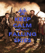 KEEP CALM and watch FALLING SKIES - Personalised Poster A4 size