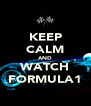 KEEP CALM AND WATCH FORMULA1 - Personalised Poster A4 size
