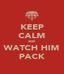 KEEP CALM and WATCH HIM PACK - Personalised Poster A4 size