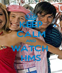 KEEP CALM AND WATCH  HMS - Personalised Poster A4 size