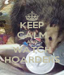 KEEP CALM AND WATCH HOARDERS - Personalised Poster A4 size