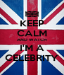 KEEP CALM AND WATCH I'M A CELEBRITY - Personalised Poster A4 size