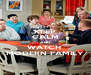 KEEP CALM AND WATCH  MODERN FAMILY - Personalised Poster A4 size