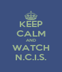 KEEP CALM AND WATCH N.C.I.S. - Personalised Poster A4 size