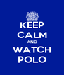 KEEP CALM AND WATCH POLO - Personalised Poster A4 size