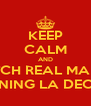 KEEP CALM AND WATCH REAL MADRID WINNING LA DECIMA - Personalised Poster A4 size