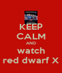 KEEP CALM AND watch red dwarf X - Personalised Poster A4 size