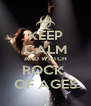 KEEP CALM AND WATCH ROCK  OF AGES - Personalised Poster A4 size