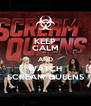 KEEP CALM AND WATCH SCREAM QUEENS - Personalised Poster A4 size