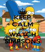 KEEP CALM AND WATCH SIMPSONS - Personalised Poster A4 size