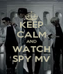 KEEP CALM AND WATCH SPY MV - Personalised Poster A4 size