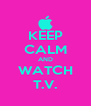 KEEP CALM AND WATCH T.V. - Personalised Poster A4 size