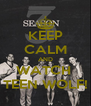 KEEP CALM AND WATCH  TEEN WOLF! - Personalised Poster A4 size