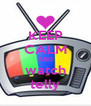 KEEP CALM AND watch telly - Personalised Poster A4 size