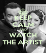 KEEP CALM AND WATCH THE ARTIST - Personalised Poster A4 size