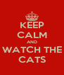 KEEP CALM AND WATCH THE CATS - Personalised Poster A4 size