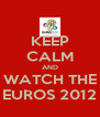 KEEP CALM AND WATCH THE EUROS 2012 - Personalised Poster A4 size