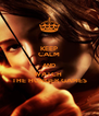 KEEP CALM AND WATCH  THE HUNGER GAMES - Personalised Poster A4 size