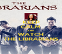 KEEP CALM AND WATCH THE LIBRARIANS - Personalised Poster A4 size