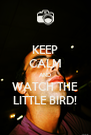 KEEP CALM AND WATCH THE LITTLE BIRD! - Personalised Poster A4 size