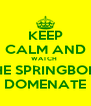 KEEP CALM AND WATCH  THE SPRINGBOKS DOMENATE - Personalised Poster A4 size