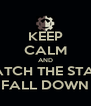 KEEP CALM AND WATCH THE STARS FALL DOWN - Personalised Poster A4 size