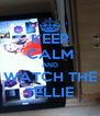 KEEP CALM AND WATCH THE TELLIE - Personalised Poster A4 size