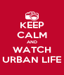 KEEP CALM AND WATCH URBAN LIFE - Personalised Poster A4 size