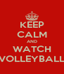 KEEP CALM AND WATCH VOLLEYBALL - Personalised Poster A4 size