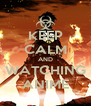 KEEP CALM AND WATCHING ANIME - Personalised Poster A4 size