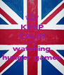 KEEP CALM AND watching hunger games - Personalised Poster A4 size