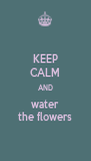 KEEP CALM AND water the flowers - Personalised Poster A4 size